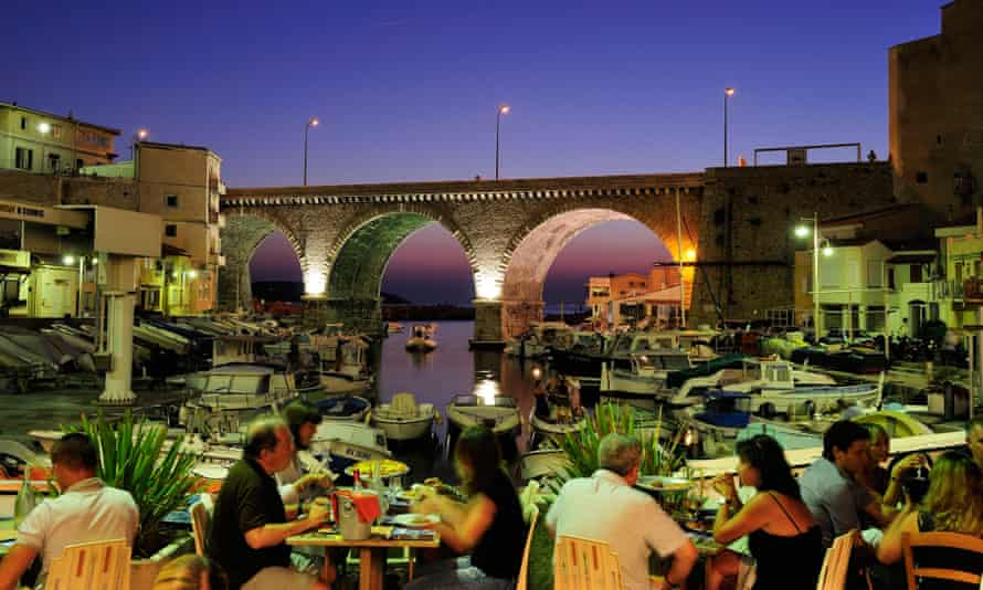 Vallon des Auffes, an old fishing harbour, was full of diners again on Wednesday night.