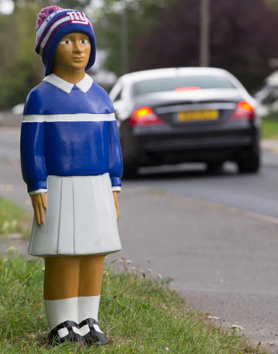 One of the safety bollards in Iver.