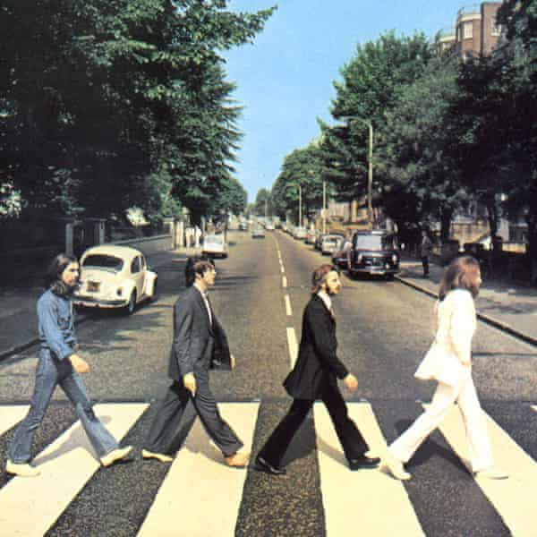 The Beatles wear Nutter's clobber on the cover of Abbey Road – only George, in denim, failed to follow suit.