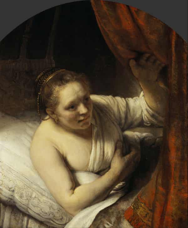 Rembrandt, A Woman in Bed.