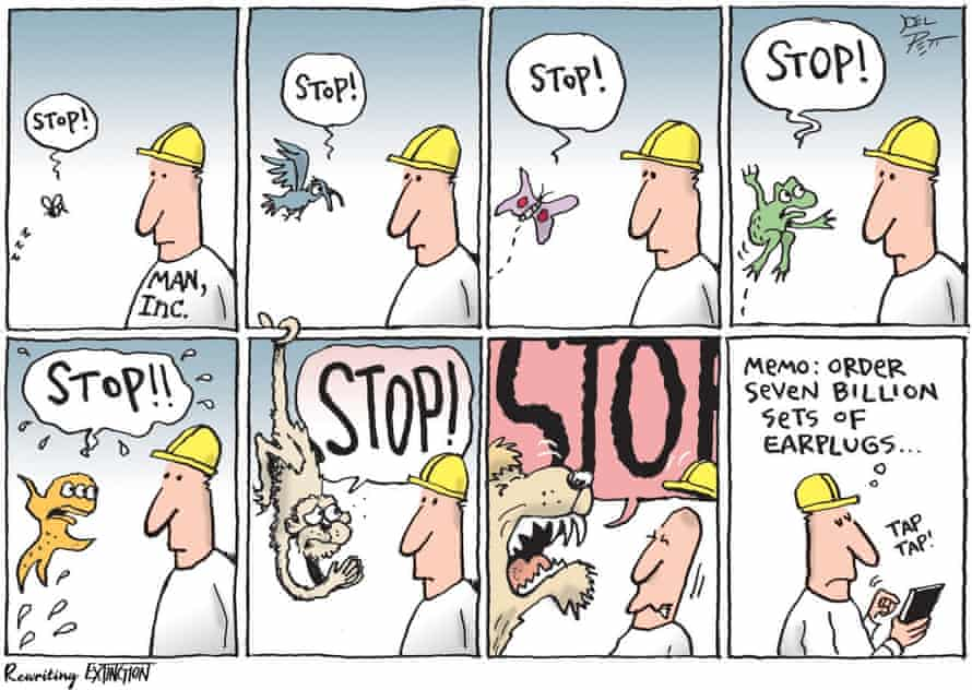 Political cartoonist, four-time Pulitzer finalist and 2000 Pulitzer prize winner Joel Pett created this comic, called Ear Plugs
