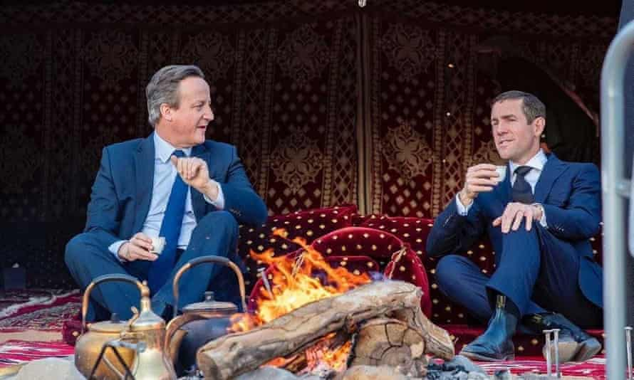 David Cameron, pictured with Lex Greensill (right) in January 2020