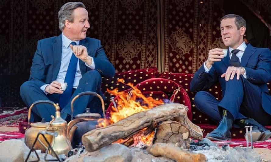 'Gliding from a position of public responsibility into one of private gain is now the norm.' David Cameron (left) and Lex Greensill in January 2020.