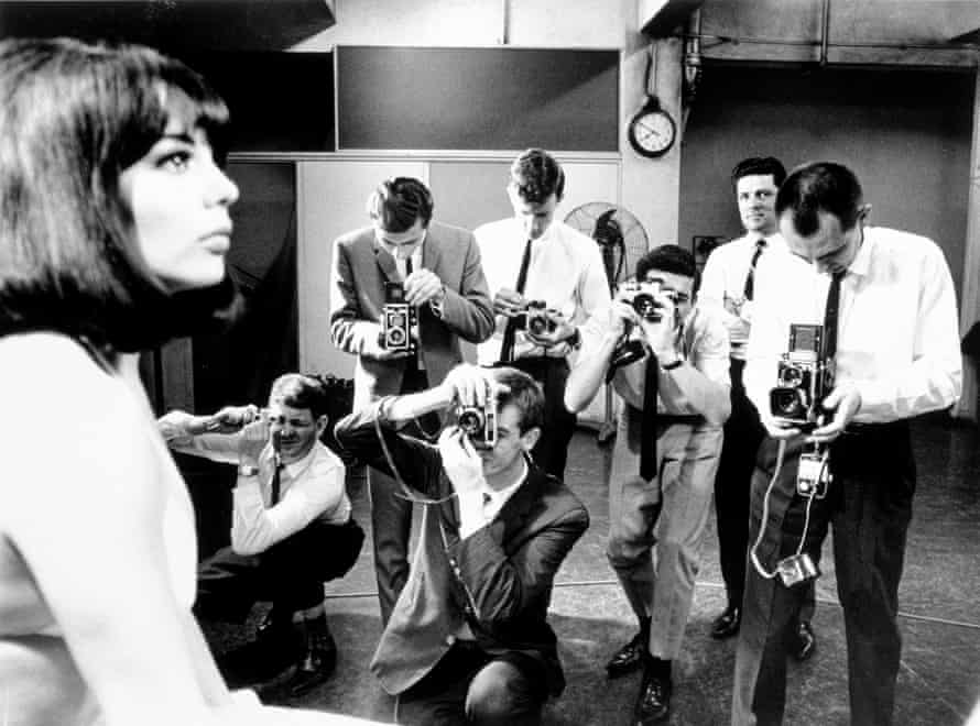 Photography cadets with a model at the Sydney Morning Herald, 1967.