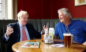 JD Wetherspoon's Tim Martin with Conservative party leadership candidate Boris Johnson in July.