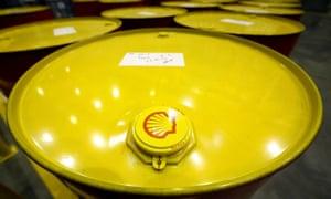 Filled oil drums