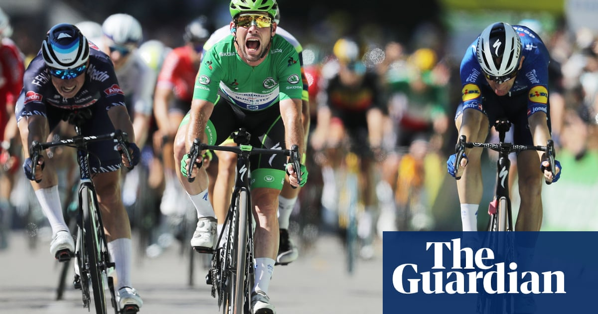 Mark Cavendish equals Merckx's record with 34th Tour de France stage win