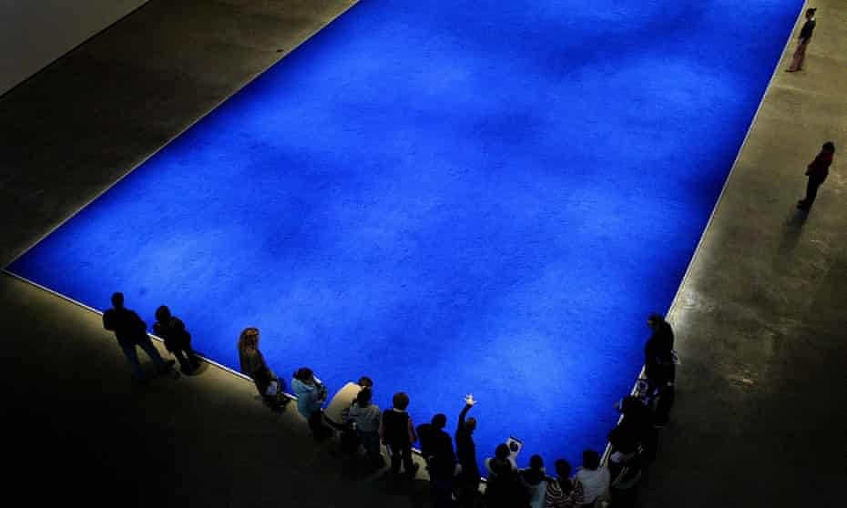 An untitled work by Yves Klein at the Guggenheim in Bilbao in 2005.