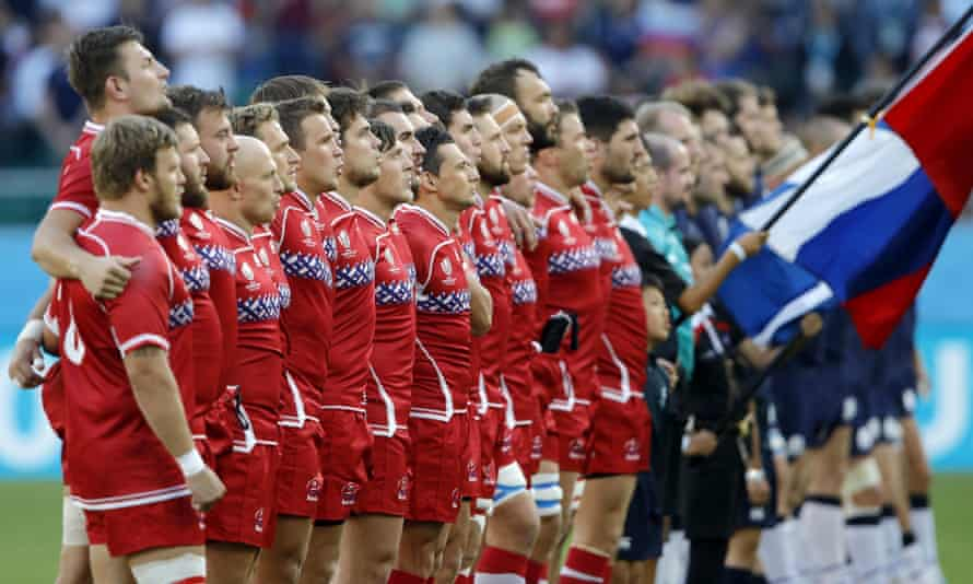 Russian rugby players