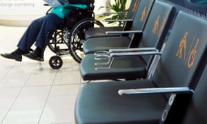 Seating area for older or disabled passengers