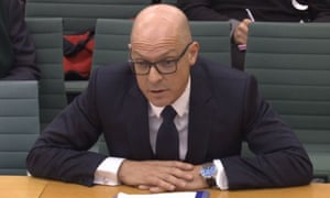 Team Sky's Dave Brailsford, seen here answering questions at a Commons select committee in December 2016, has received backing from the team's directeur sportif, Nicolas Portal.