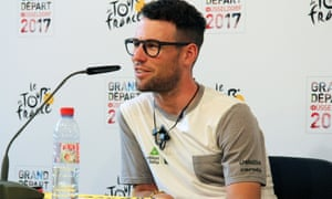 Mark Cavendish during his team's press conference in Dusseldorf