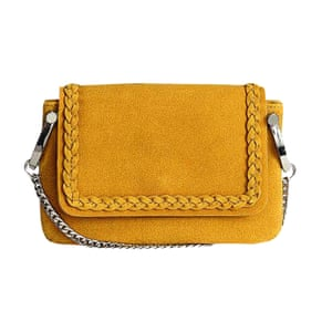 Yellow braided bag from H&M