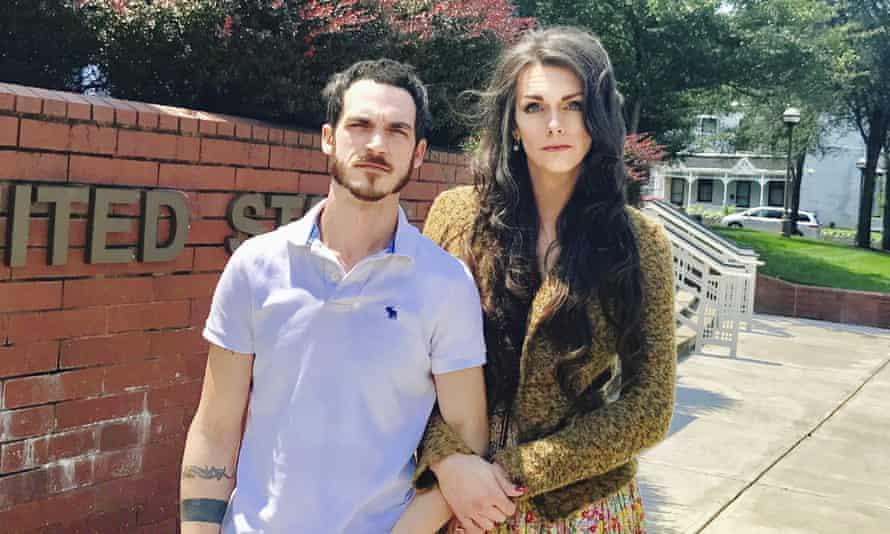 Dane Lane, left, and his transgender wife, Allegra Schawe-Lane, have sued Amazon, alleging extensive discrimination.