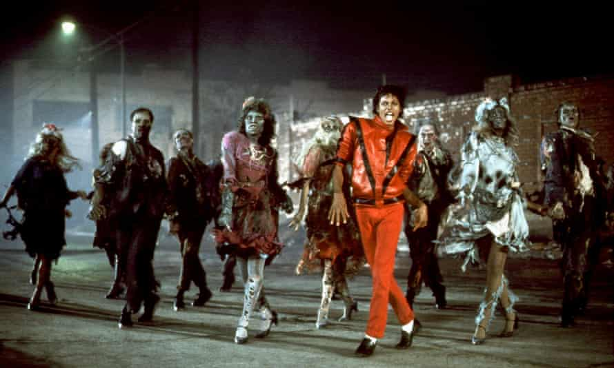 Michael Jackson in the Thriller video. Rod Temperton wrote three of the nine songs on the album, including the title track.