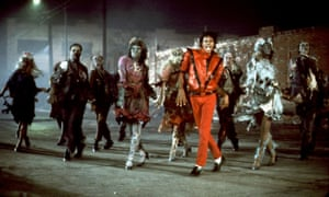 Michael Jackson in the video for Thriller, written by Rod Temperton, which helped redefine the singer.