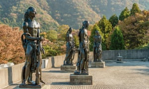 Statues by Emile Antoine Bourdelle at Hakone Open Air Museum.