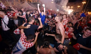 Croatia supporters gathered in a central Zagreb square to watch the match.