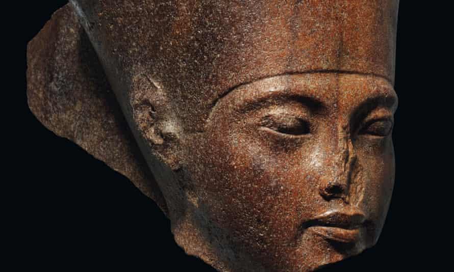 The brown quartzite bust of Tutankhamun