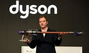 Jake Dyson, chief engineer at Dyson, presents the company's latest cordless model.