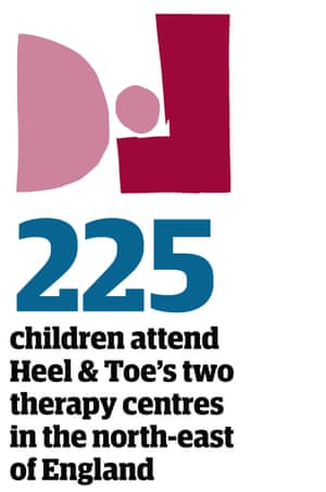 Statistic: 225 children attend Heel & Toe's two therapy centres in the north-east of Emgland