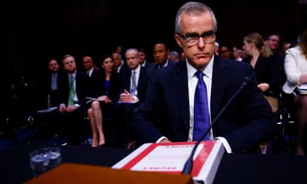 Andrew McCabe before the Senate intelligence committee, May 2017.