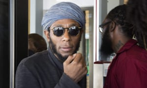 Mos Def at a court hearing in Cape Town earlier this year.