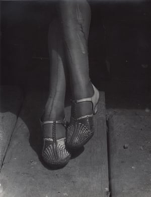 Mended Stockings, Stenographer, San Francisco, 1934, by Dorothea Lange