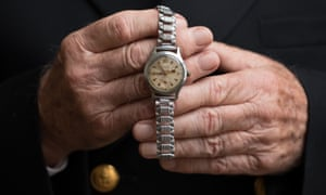 Alan Hellier's watch, stopped at 8.54pm on 10 February 1964