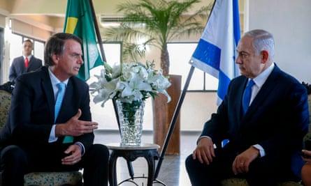 After their meeting in Rio de Janiero last week, Jair Bolsonaro (L) said Brazil needed 'good friends, good brothers' like Israel's Benjamin Netanyahu.
