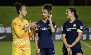 Carli Lloyd (right) talks to  Kailen Sheridan, and Estelle Johnson after their team's loss to Washington Spirit