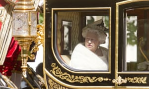 Queen Elizabeth II in horse-drawn carriage