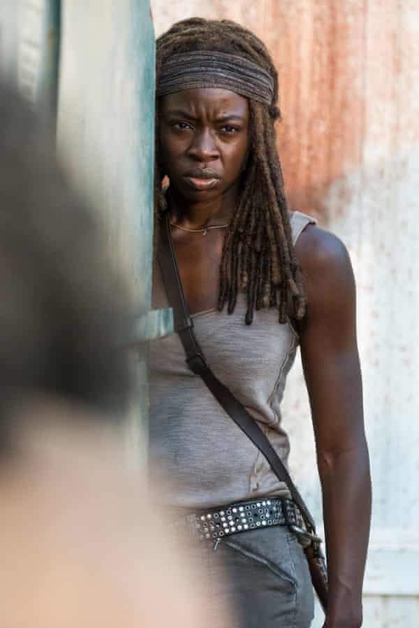 I can't bear to see Michonne all doe-eyed. I want her to be as, historically, she has been at her best – zombie-slaying machine – or, at least, looking cross.