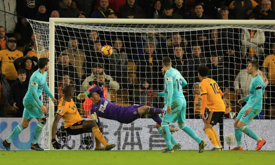 Wily Boly was at the back post for Wolves' late equaliser against Newcastle.