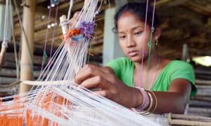 Handloom Weaving By Indian Tribal Women