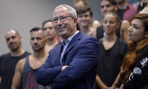 Ben Elton and the cast of We Will Rock