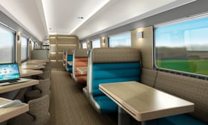 Computer-generated image showing how the club car will look on the revamped Caledonian Sleeper