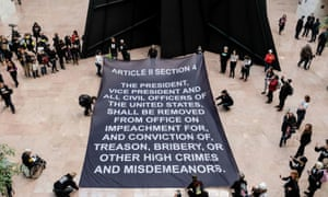 Protesters remind senators of the words of the constitution.