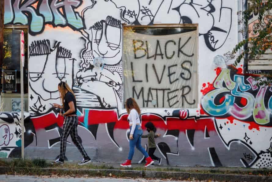 Atlanta bar 97 Estoria displays its support for Black Lives Matter.