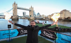 Peter Crouch kicks off Amazon Prime Video's Premier League season with a spectacular launch on the River Thames