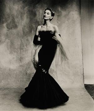 Rochas Mermaid Dress (Lisa Fonssagrives-Penn) Paris, 1950, by Irving Penn