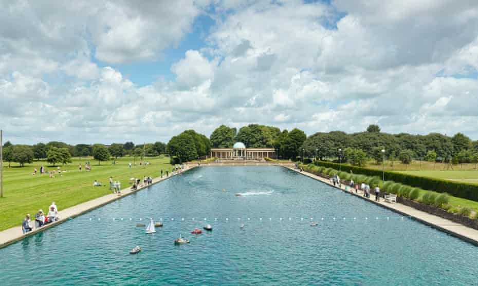 The Eaton Park boat pond was built in 1928 and is one of the largest in Europe. It holds 960,000 gallons of fresh water.