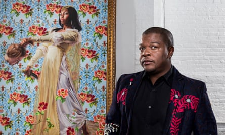 Kehinde Wiley in his studio in New York.