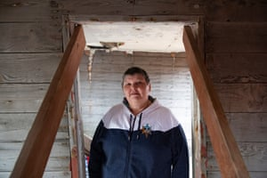 Alaska Gerda Kosbruck, the village administrator, photographed in a house that was relocated to Port Heiden in Alaska