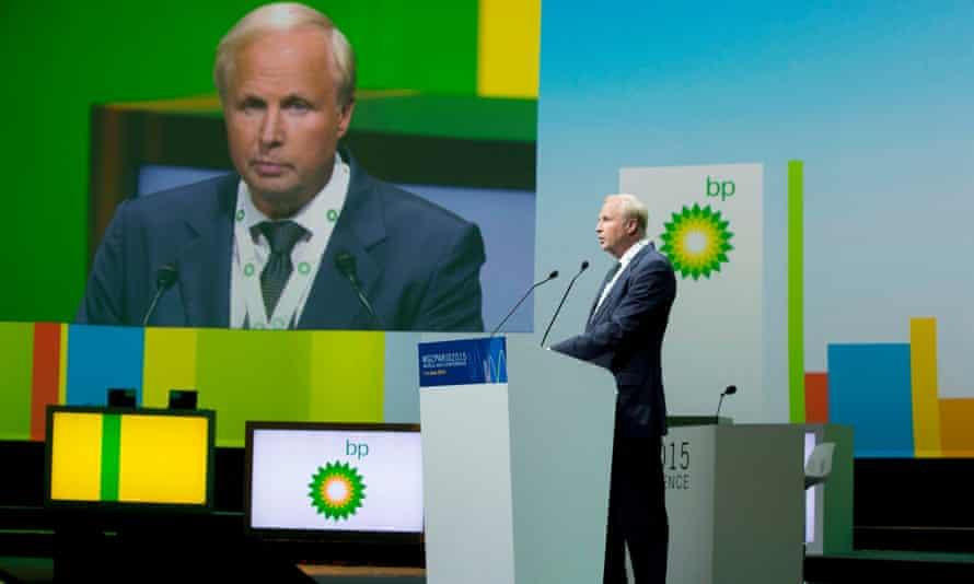 BP chief executive officer Robert 'Bob' Dudley