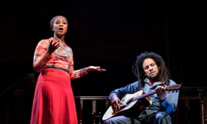 Alexia Khadime and Mitchell Brunings as Rita and Bob Marley.