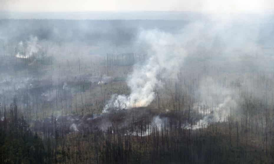 Wildfire in Boguchar