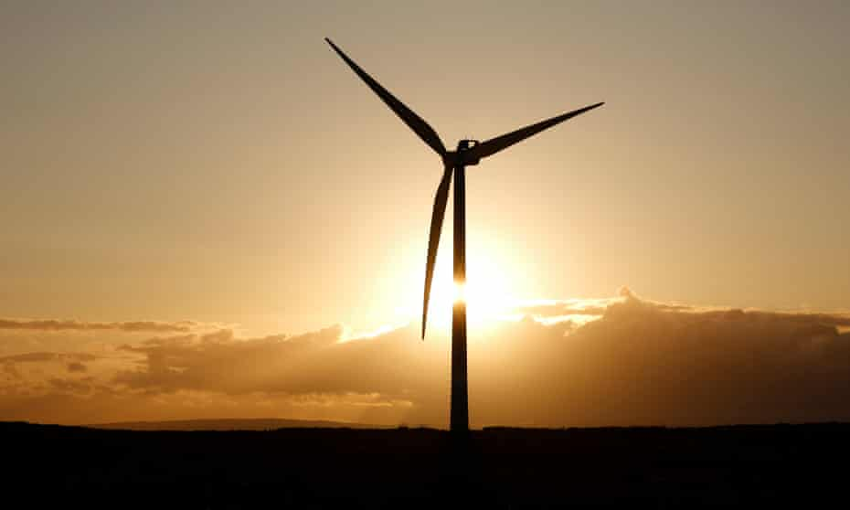 A turbine at Green Rigg windfarm in Northumberland