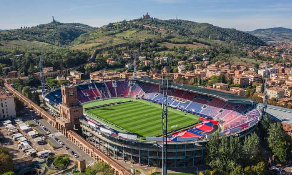 Aerial view of Renato Dall'Ara Stadium, Bologna