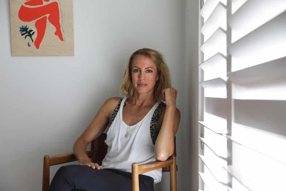 Author Sarah Wilson at her apartment.